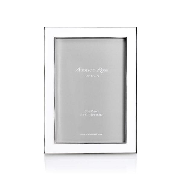 Addison Ross Enamel Frame White 4 Inch By 6 Inch