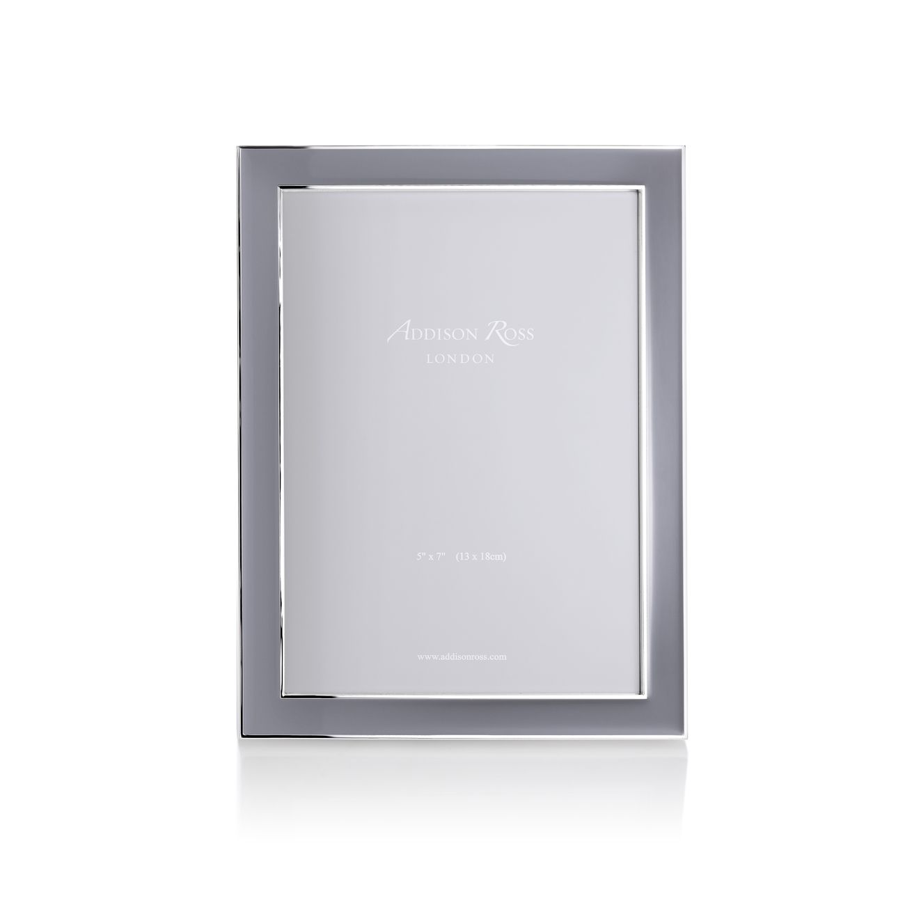 Addison Ross Enamel Frame Taupe 5 Inch By 7 Inch