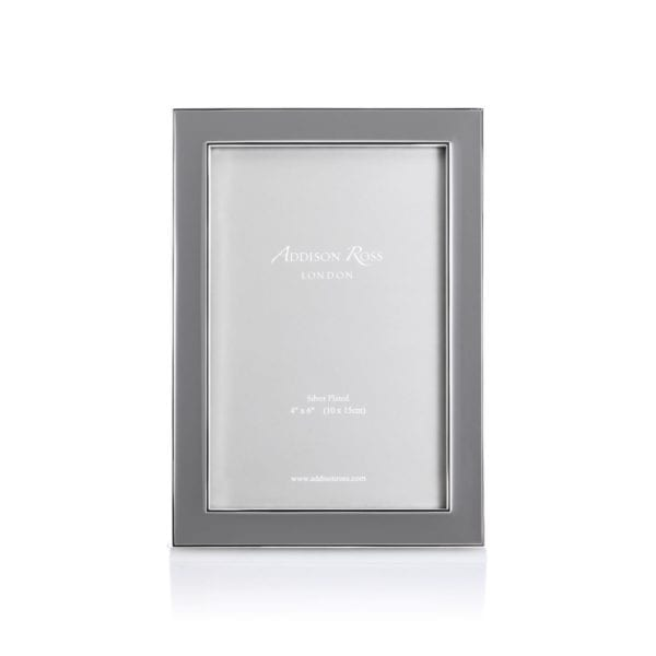 Addison Ross Enamel Frame Taupe 4 Inch By 6 Inch