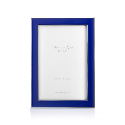 Addison Ross Enamel Frame Royal Blue 4 Inch By 6 Inch