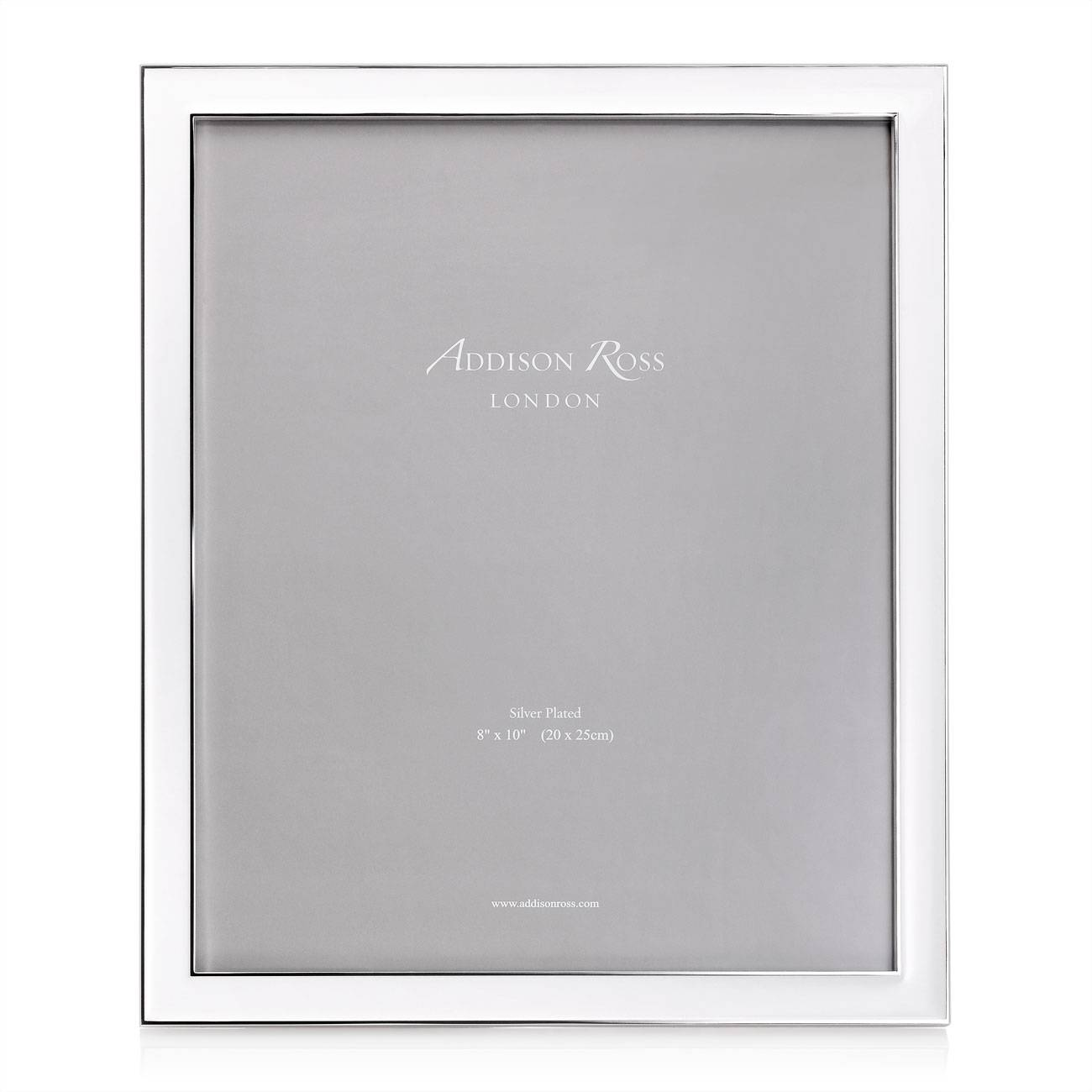 Addison Ross Enamel Frame White 8 Inch By 10 Inch