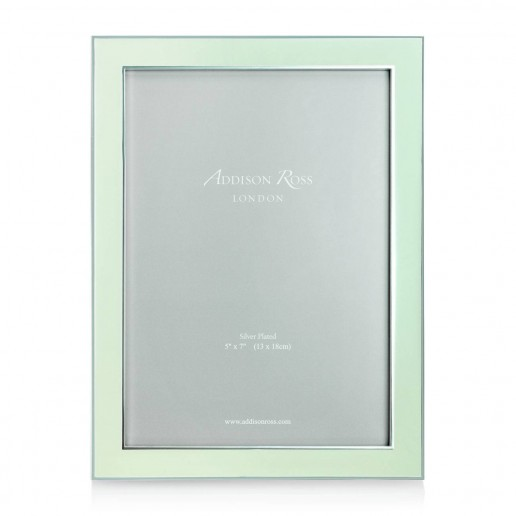 Addison Ross Enamel Frame Mint 5 Inch By 7 Inch