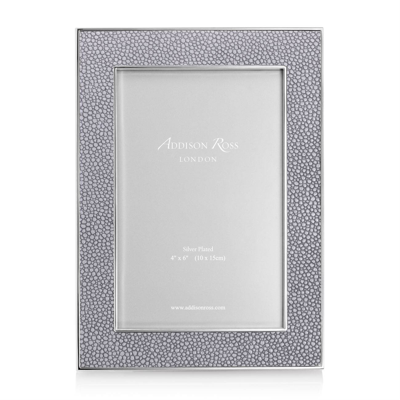Addison Ross Shagreen Frame Grey 4 Inch By 6 Inch