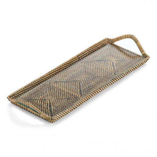Calaisio Small Rectangular Tray with Glass