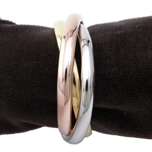 L'Objet Napkin Jewels Three Rings Tri-Color, Set of 4