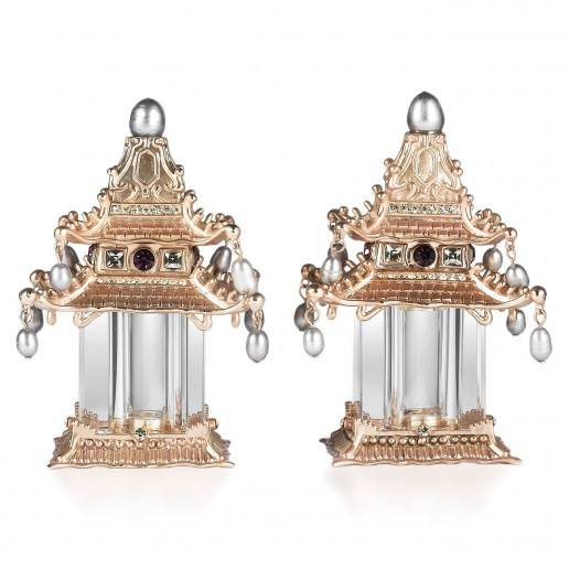 L'Objet Pagoda Gold/Pearls Salt & Pepper