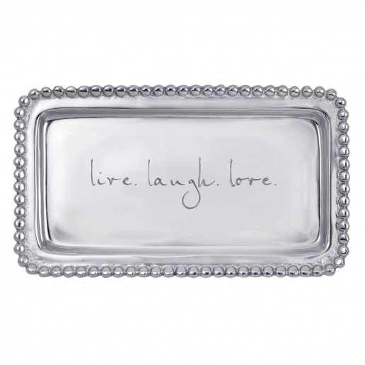 Mariposa Engraved Statements Live Love Laugh Letter Tray