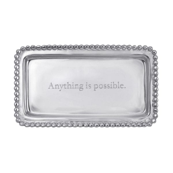 Mariposa Engraved Statements Anything Is Possible Statement Tray