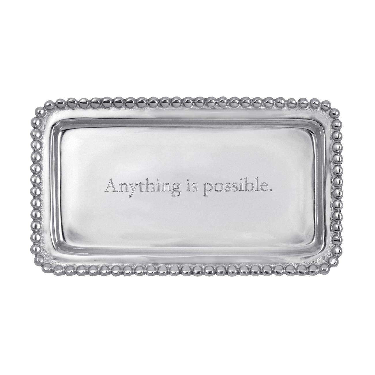 Mariposa Engraved Statements Anything Is Possible Statement Tray  sc 1 st  Michael C. Fina & Mariposa Engraved Statements \