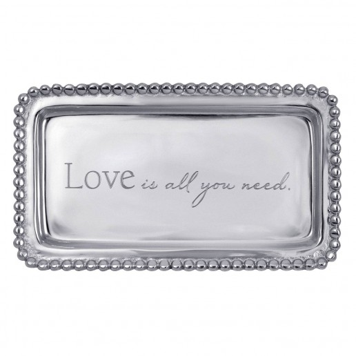 Mariposa Engraved Statements Love Is All You Need