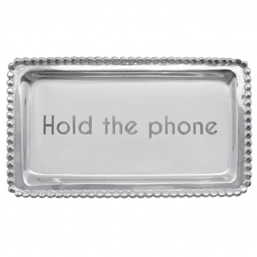 Mariposa Engraved Statements Hold The Phone Statement Tray