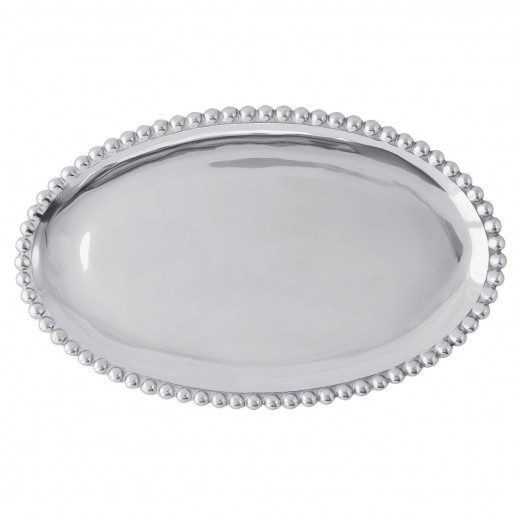 Mariposa String of Pearls Oval Platter Small