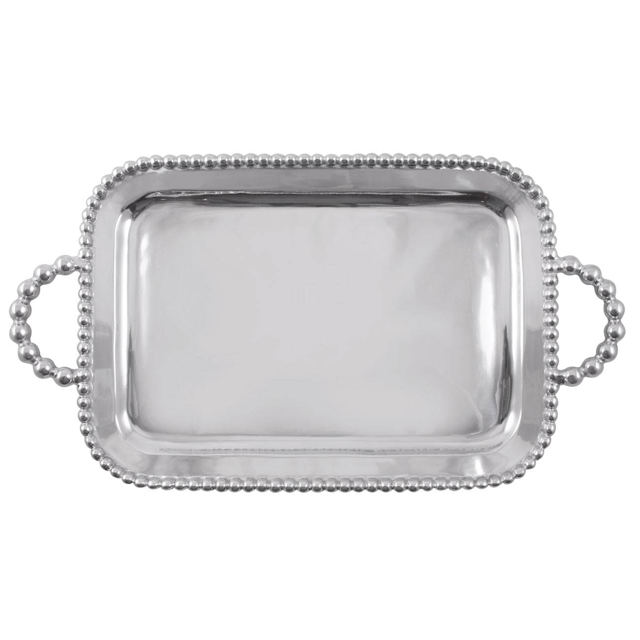 Mariposa String of Pearls Large Handled Service Tray