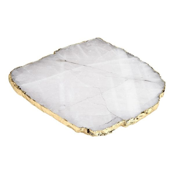 Rablabs Kiva Platters Crystal With Gold Edge