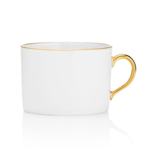 Anna Weatherley Antique White with Gold Rim Teacup