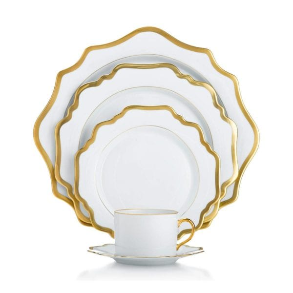 Anna Weatherley Antique White with Gold Collection