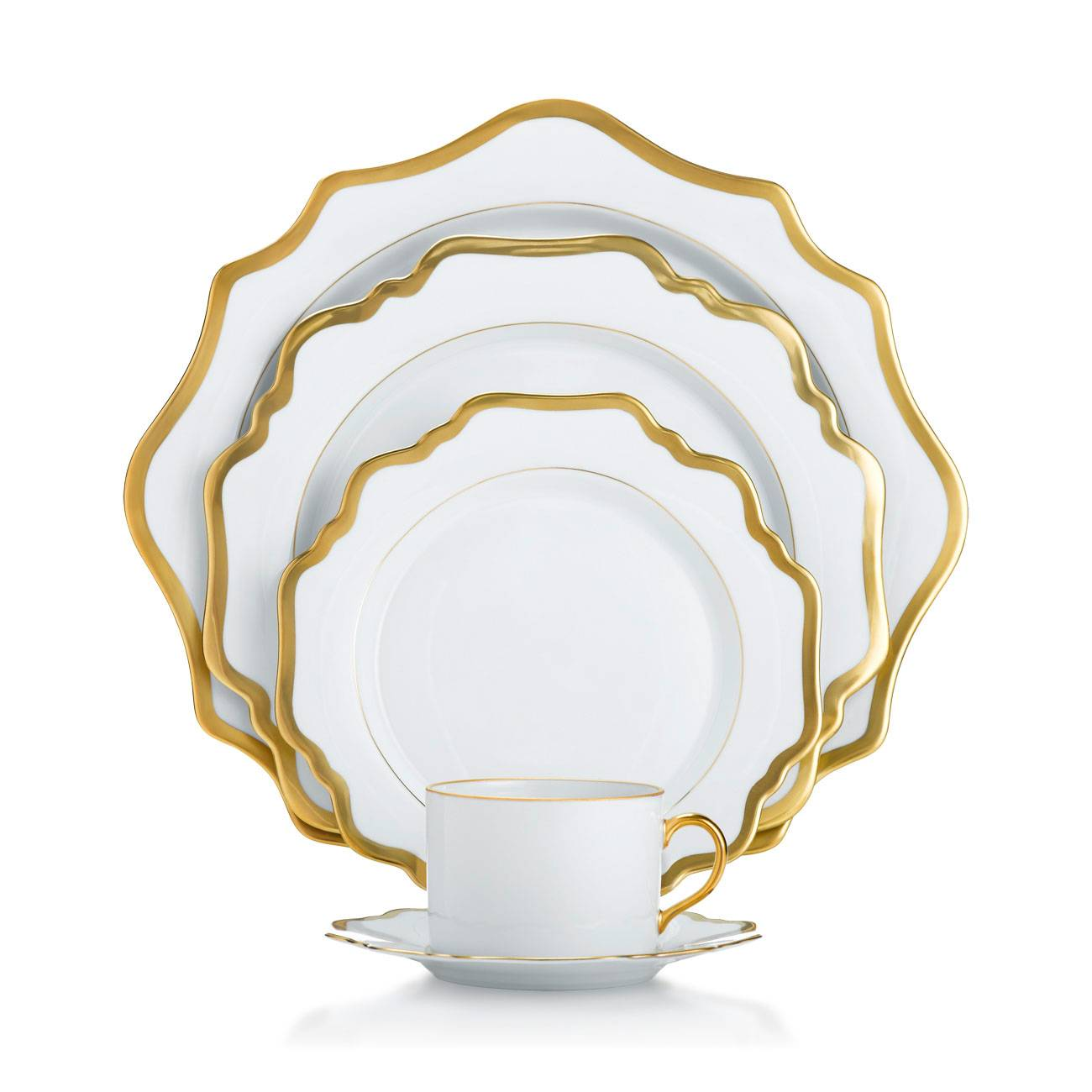 Anna Weatherley Antique White with Gold Collection  sc 1 st  Michael C. Fina : antique white dinnerware - pezcame.com