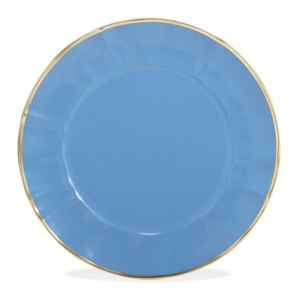 Anna Weatherley Colored Chargers, Blue