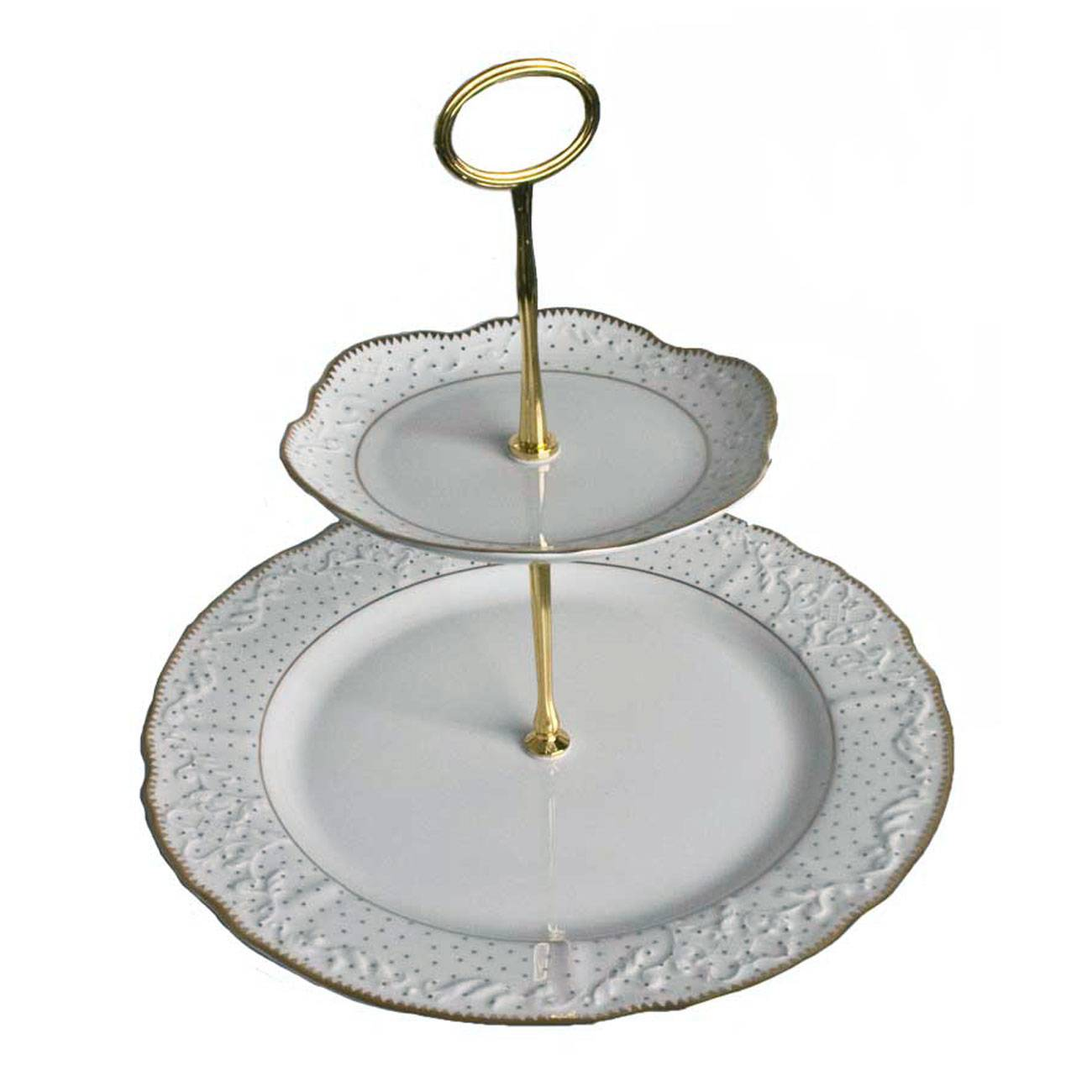 Anna Weatherley Simply Anna Polka Two Tiered Cake Stand