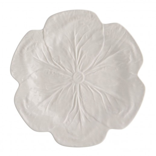 Bordallo Pinheiro Cabbage Beige Dinner Plates Set of 4