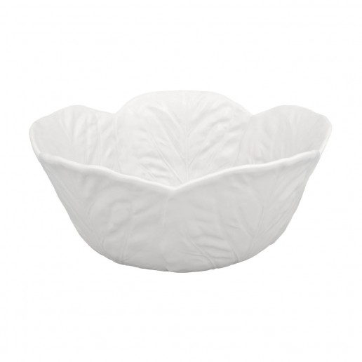 Bordallo Pinheiro Cabbage Beige Tall Salad Bowl