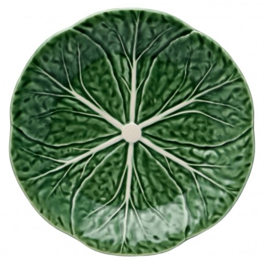 Bordallo Pinheiro Cabbage Green Dessert Plate Set of 4