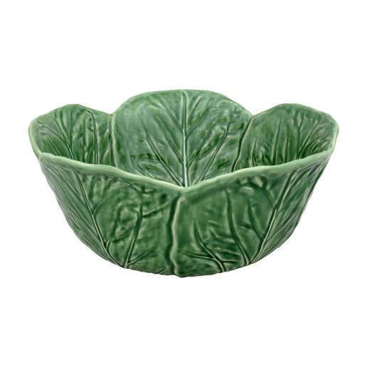 Bordallo Pinheiro Cabbage Green Tall Salad Bowl