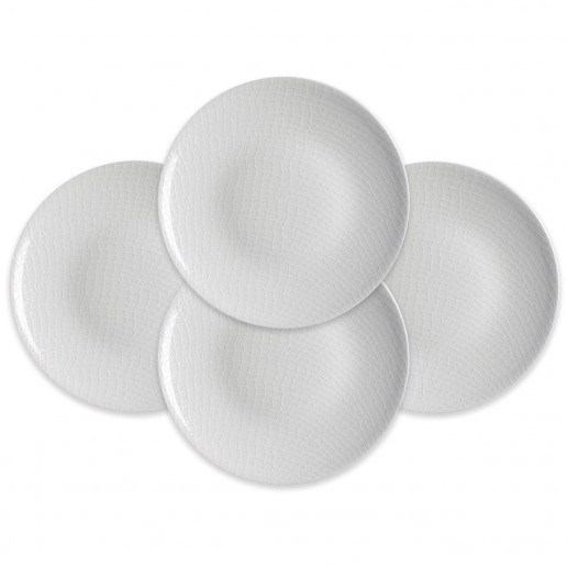 Caskata Catch White Collection Accent Plates, Set of 4