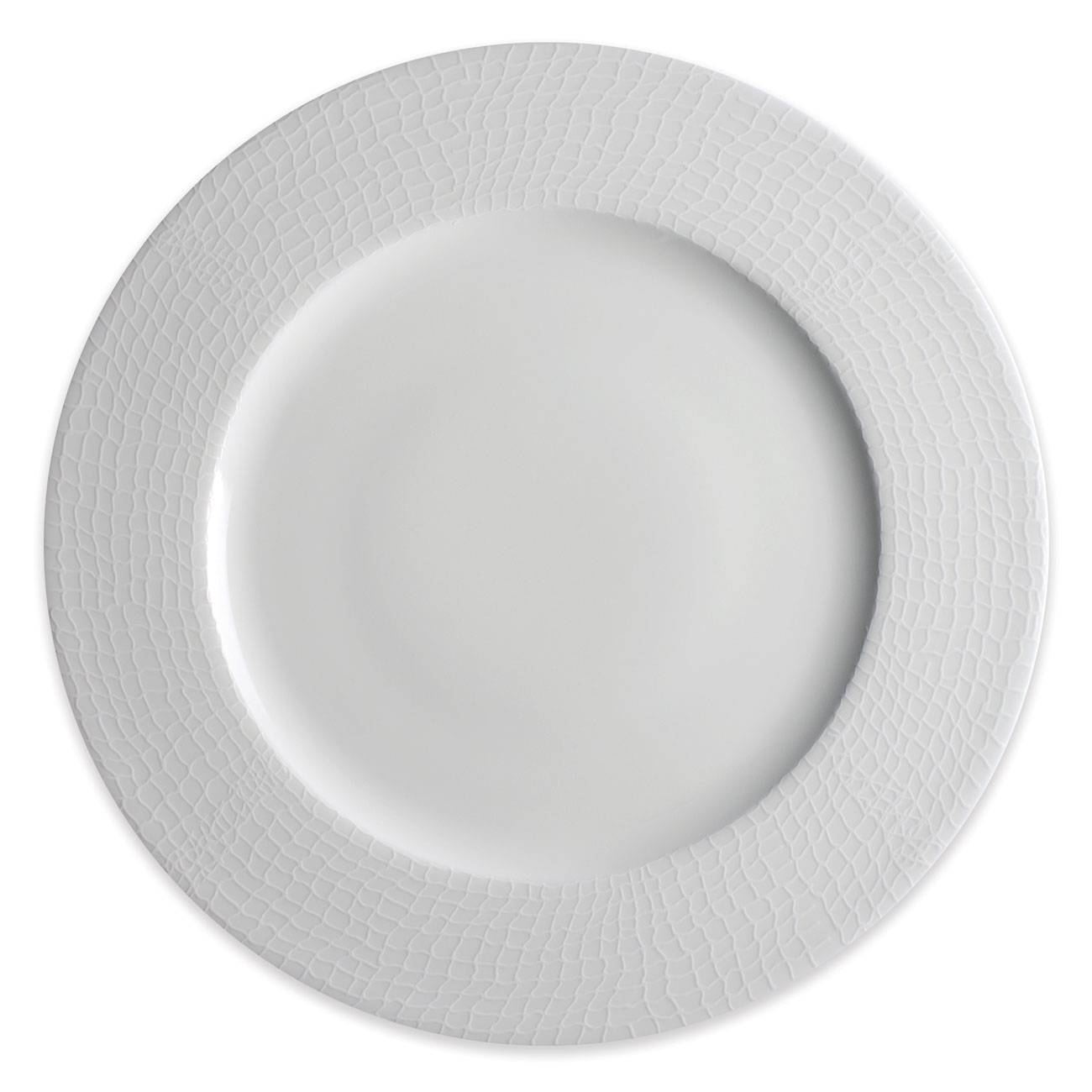Caskata Catch White Collection Rimmed Dinner Plate