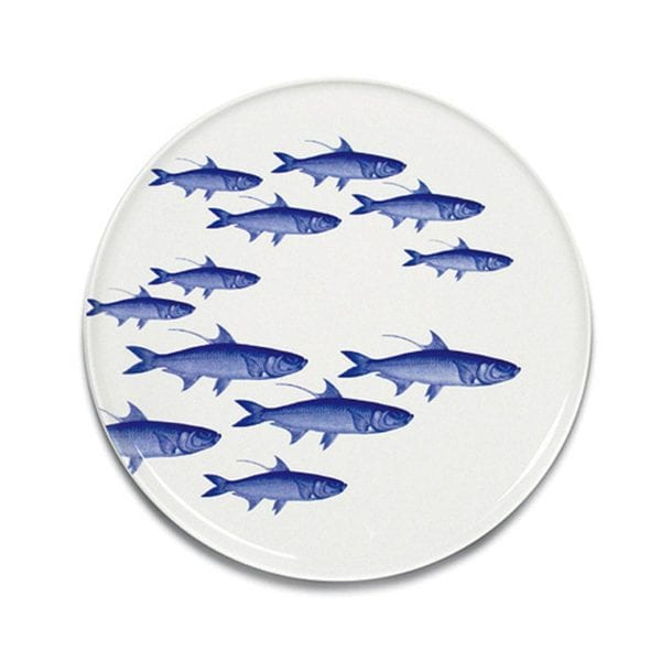 Caskata School of Fish Blue Coupe Platter