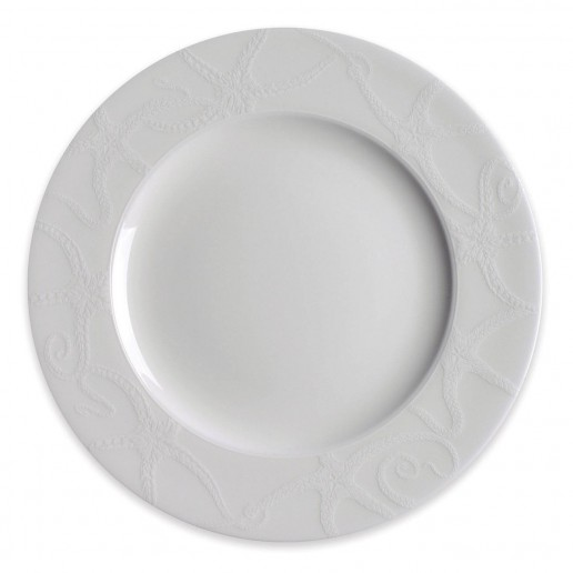Caskata Starfish White Collection Rimmed Salad Plate