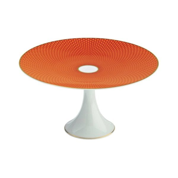 Raynaud Tresor Orange Medium Petit Four Stand