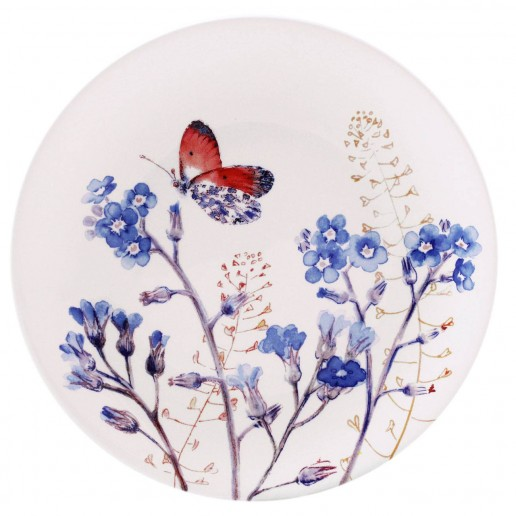 Gien Azur Assorted Canape Plate , Set of 4