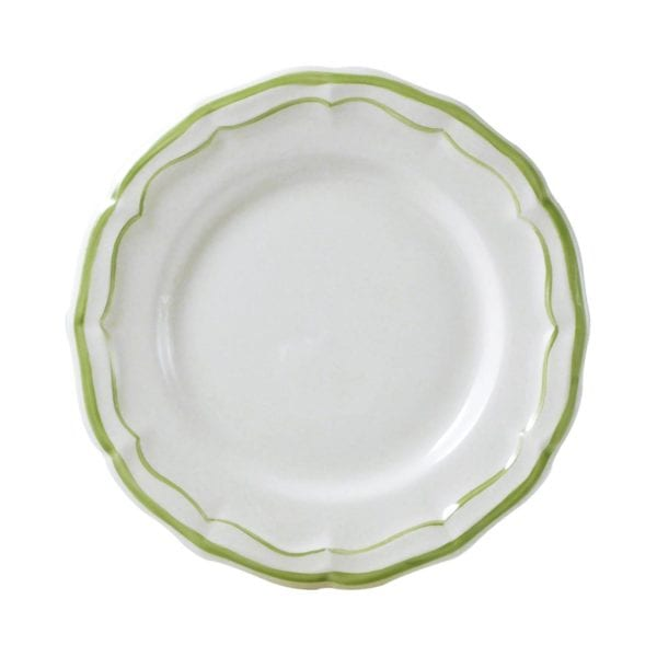 Gien Filets Vert Canape Plates, Set of 4