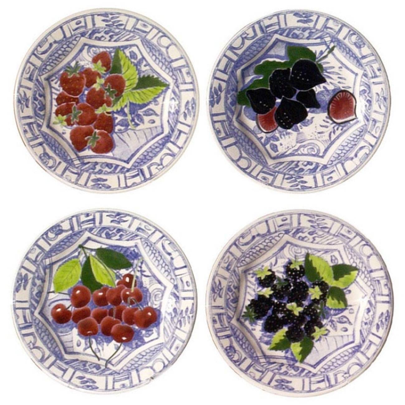 Gien Oiseau Blue Fruits Assorted Dessert Plate Set of 4  sc 1 st  Michael C. Fina & Gien Oiseau Blue Fruits Assorted Dessert Plate Set of 4 - Michael C ...