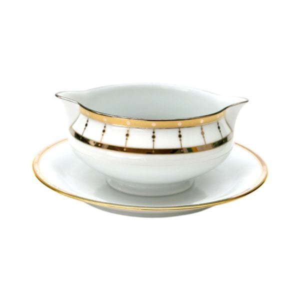 Haviland Tambour Gravy Boat with Stand