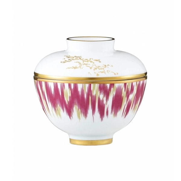 Hermès Voyage En Ikat Sugar Bowl With Lid