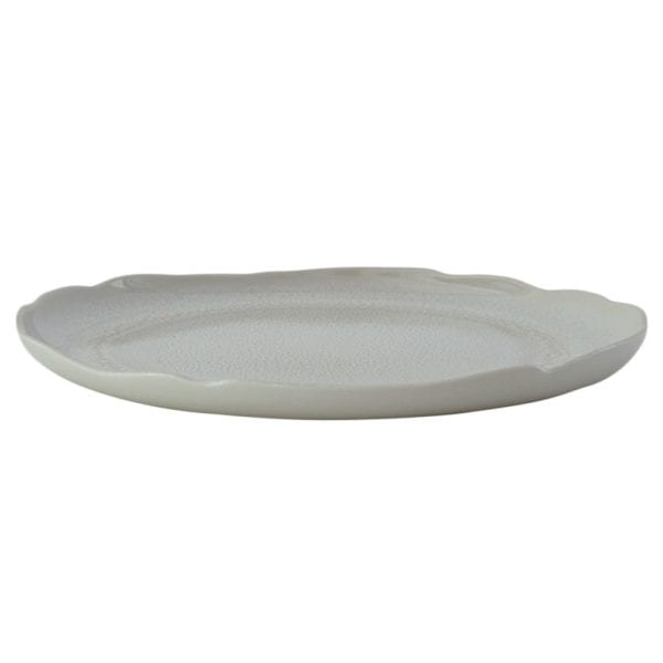 Jars Ceramics Plume White Pearl Serving Plate