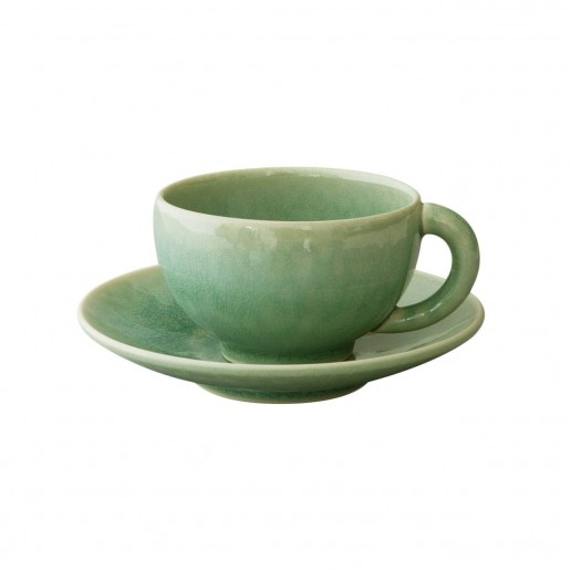Jars Ceramics Tourron Jade Teacup & Saucer