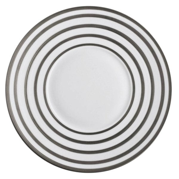 Jean-Louis Coquet Hemisphere Platinum Stripe Dessert Plate Large Center
