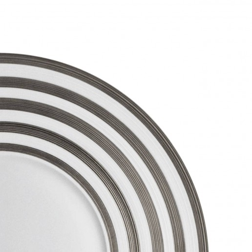 Jean-Louis Coquet Hemisphere Platinum Stripe Dinner Plate Large Center