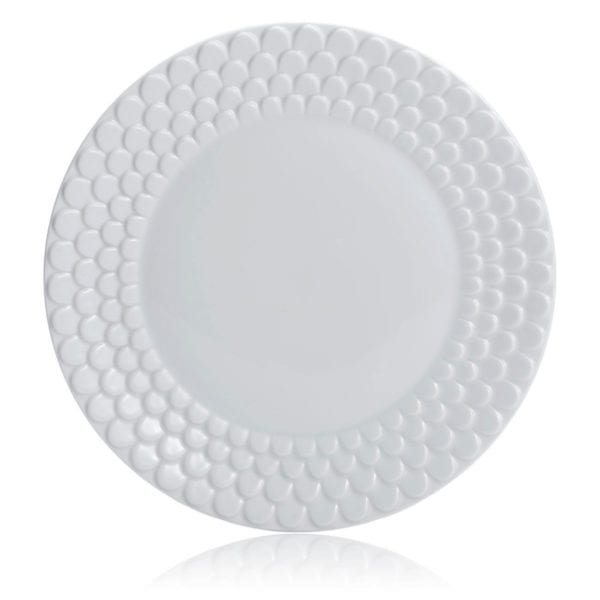 L'Objet Aegean White Sculpted Bread and Butter