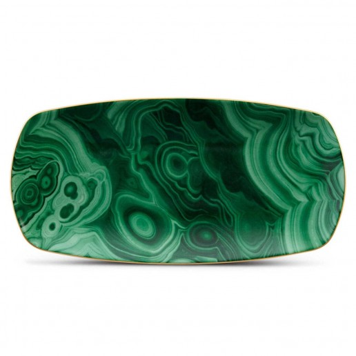 L'Objet Malachite Rectangular Medium Tray