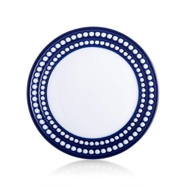 L'Objet Perlee Blue Bread and Butter Plate