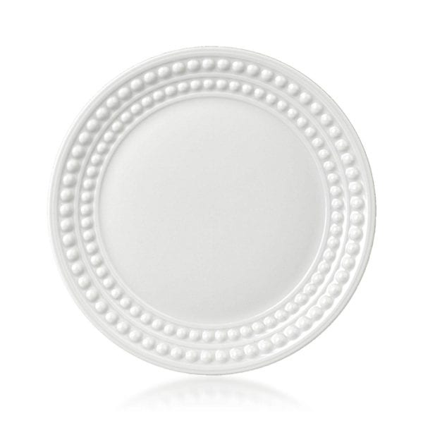 L'Objet Perlee White Bread and Butter Plate