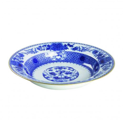 Mottahedeh Imperial Blue Rim Soup Bowl