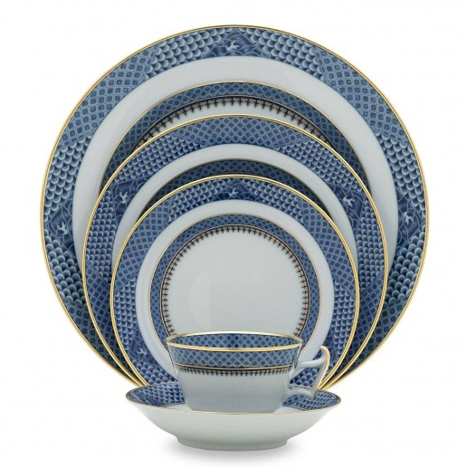 Mottahedeh Indigo Wave Five Piece Place Setting