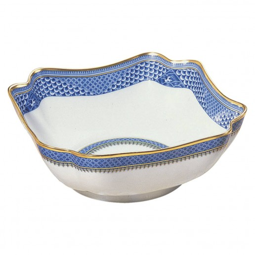 Mottahedeh Indigo Wave Large Square Bowl