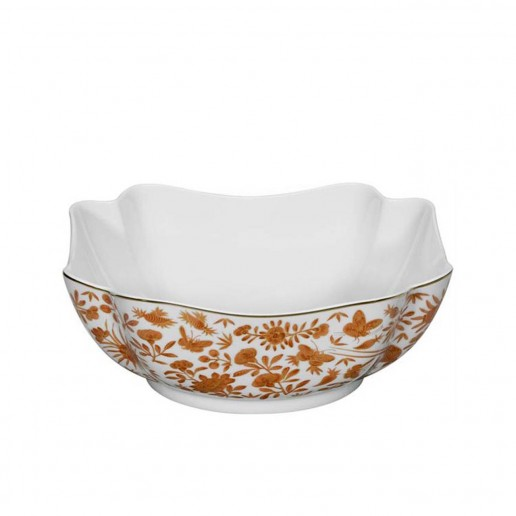 Mottahedeh Sacred Bird and Butterfly Large Square Bowl