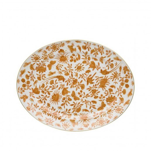 Mottahedeh Sacred Bird and Butterfly Platter